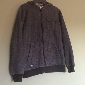 Shaun White Boys L/12-14 grey and black hoodie